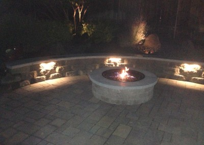 Fire pit at night